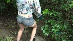 Ashley takes you in the forest and wants to fuck.